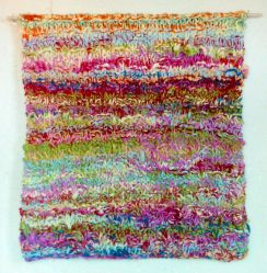 002_Cordeaux_Pollock Piece, knitted wool, 1983